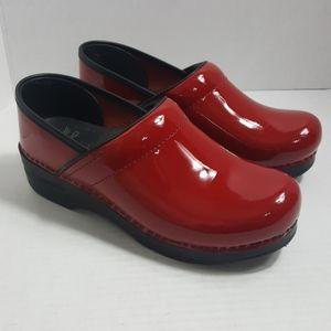 Dansko Sanita Red Patent Leather clog comfort
